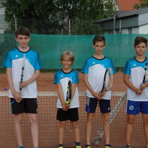 U14: Alexander Reithofer, Felix Demel, Niko Windsteig und Hamza Dahic